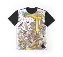 The Illustrated Alphabet Capital J (Fuller Bodied) from THE ILLUSTRATED MAN Graphic T-Shirt