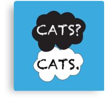 Cats? Cats. Canvas Print