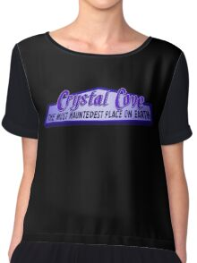 Crystal Cove The Most Hauntedest Place on Earth Chiffon Top