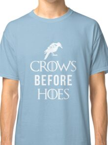 Crows Before Hoes in Blue Classic T-Shirt