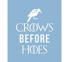 Crows Before Hoes in Blue Photographic Print