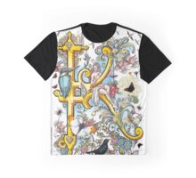 The Illustrated Alphabet Capital K (Fuller Bodied) from THE ILLUSTRATED MAN Graphic T-Shirt