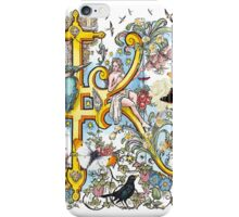 The Illustrated Alphabet Capital K (Fuller Bodied) from THE ILLUSTRATED MAN iPhone Case/Skin