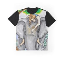 Asian elephant Portrait Graphic T-Shirt