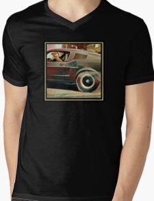 Bullitt Steve McQueen Mustang Mens V-Neck T-Shirt