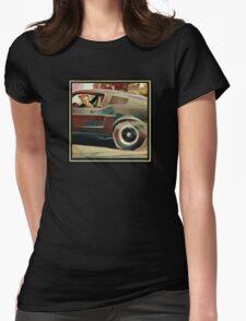 Bullitt Steve McQueen Mustang Womens Fitted T-Shirt