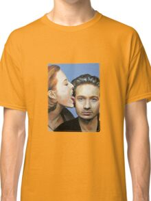 David Duchovny Gillian Anderson X Files Lick Pic Painting Classic T-Shirt