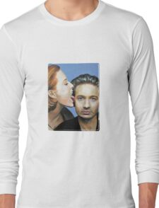 David Duchovny Gillian Anderson X Files Lick Pic Painting Long Sleeve T-Shirt