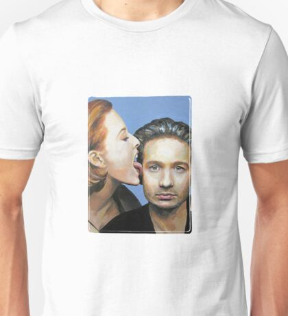 David Duchovny Gillian Anderson X Files Lick Pic Painting Unisex T-Shirt