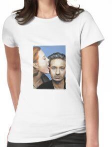 David Duchovny Gillian Anderson X Files Lick Pic Painting Womens Fitted T-Shirt