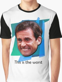 Michael Scott Ugly Cry Face Graphic T-Shirt