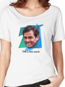 Michael Scott Ugly Cry Face Women's Relaxed Fit T-Shirt