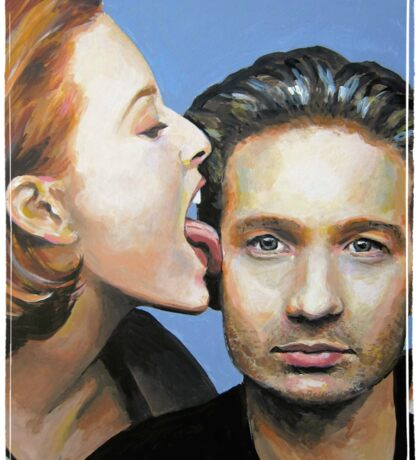 David Duchovny Gillian Anderson X Files Lick Pic Painting Sticker