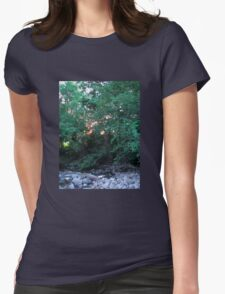 Sunset Through the Trees Womens Fitted T-Shirt