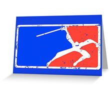 Major League Ninja Greeting Card