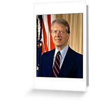 Jimmy Carter US President Greeting Card