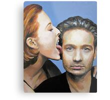 David Duchovny Gillian Anderson X Files Lick Pic Painting Metal Print