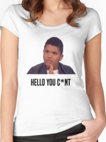 Hello You C*nt | Harvey Price Women's Fitted Scoop T-Shirt