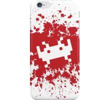 Space Invaders blood splat iPhone Case/Skin