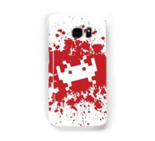Space Invaders blood splat Samsung Galaxy Case/Skin