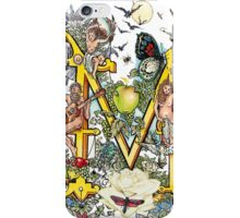 The Illustrated Alphabet Capital M (Fuller Bodied) from THE ILLUSTRATED MAN iPhone Case/Skin