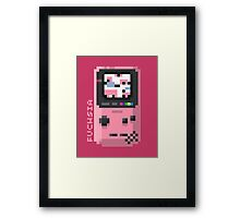 Fuchsia - Pixel Cities Serie 7/10 Framed Print