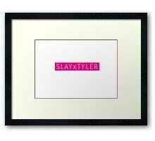 Slay x Tyler Framed Print