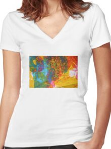 colour two Women's Fitted V-Neck T-Shirt