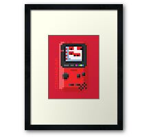 Cinnabar - Pixel Cities Serie 6/10 Framed Print