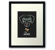 Drink and dance Framed Print