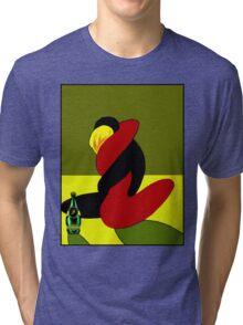 """""""PERRIER WATER"""" Vintage Advertising Print Tri-blend T-Shirt"""