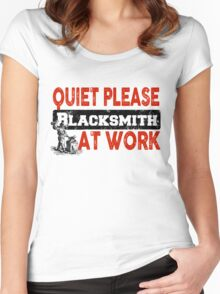 Quiet Please Blacksmith At Work Women's Fitted Scoop T-Shirt