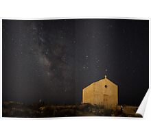 A Huge Galaxy and a Tiny Chapel Poster