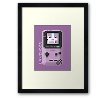 Lavender - Pixel Cities Serie 2/10 Framed Print