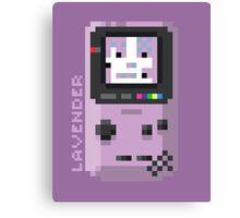 Lavender - Pixel Cities Serie 2/10 Canvas Print
