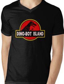 Dino-Bot Island Mens V-Neck T-Shirt