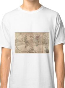 Vintage Map of The World (1709) Classic T-Shirt