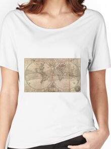 Vintage Map of The World (1709) Women's Relaxed Fit T-Shirt