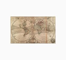 Vintage Map of The World (1709) Unisex T-Shirt