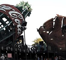 AT&T Park Coke Bottle and Glove by tatiananori