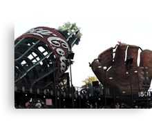 AT&T Park Coke Bottle and Glove Canvas Print