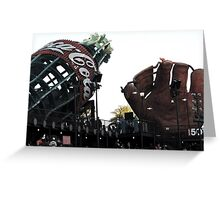 AT&T Park Coke Bottle and Glove Greeting Card