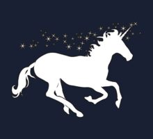 UNICORN, in black, Heraldry, Horse, Legend, Myth, Mythology, Tale, Story, fable, fiction, folklore, lore,  Kids Tee