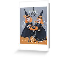 Witches' Tea Party Greeting Card