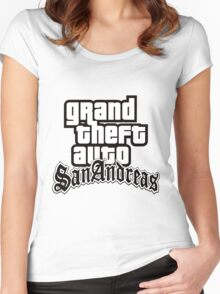 GTA San Andreas - LOGO Women's Fitted Scoop T-Shirt