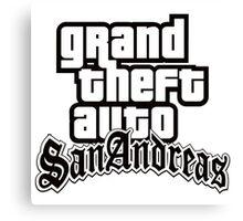 GTA San Andreas - LOGO Canvas Print