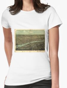 Vintage Pictorial Map of East Saginaw MI (1876) Womens Fitted T-Shirt