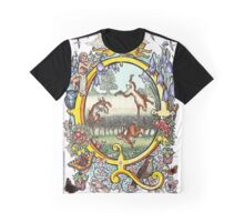 The Illustrated Alphabet Capital Q (Fuller Bodied) from THE ILLUSTRATED MAN Graphic T-Shirt