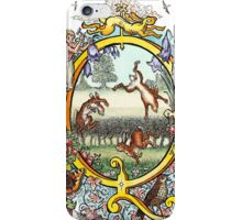 The Illustrated Alphabet Capital Q (Fuller Bodied) from THE ILLUSTRATED MAN iPhone Case/Skin