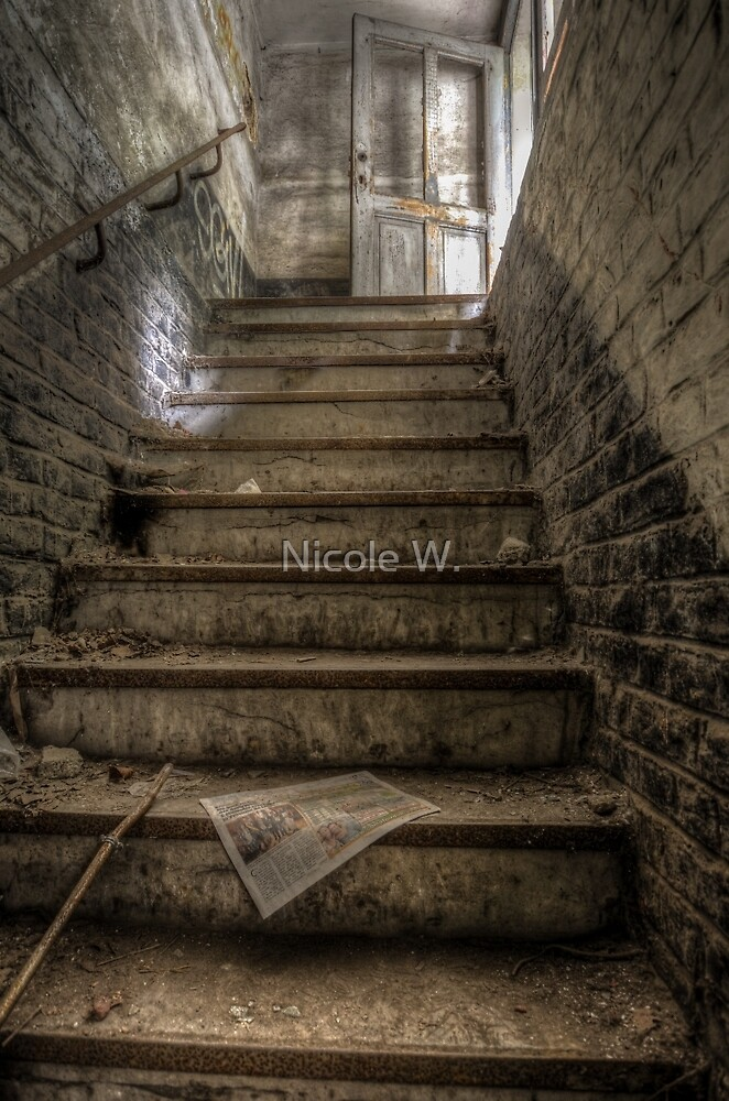 The way out of the spooky basement by Nicole W.